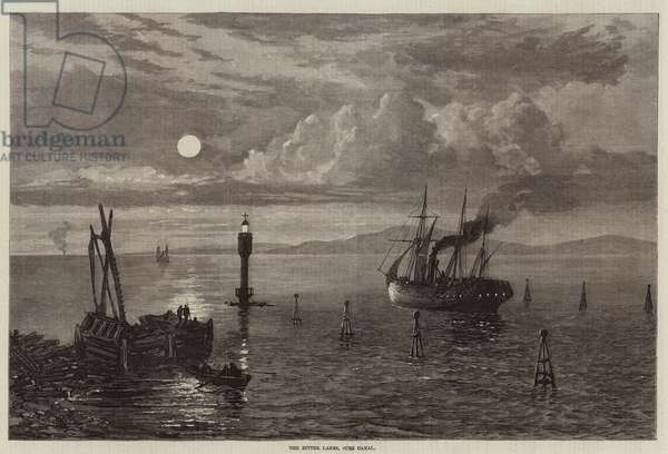 The Bitter Lakes, Suez Canal (engraving)