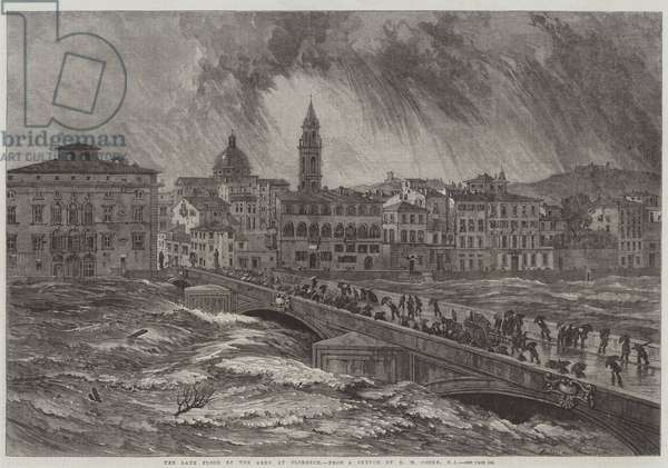 The late Flood of the Arno at Florence (engraving)