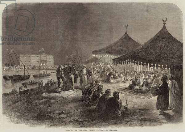Opening of the Suez Canal, Festival at Ismailia (engraving)