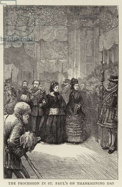 The Procession in St Paul's on Thanksgiving Day (engraving)