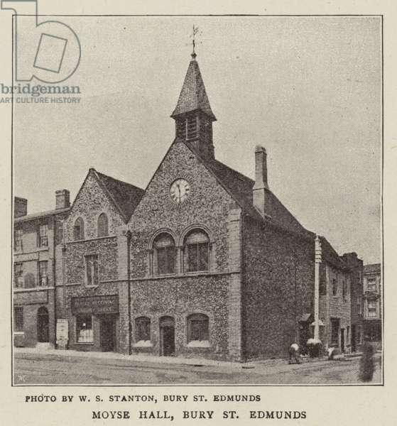 Moyse Hall, Bury St Edmunds (b/w photo)