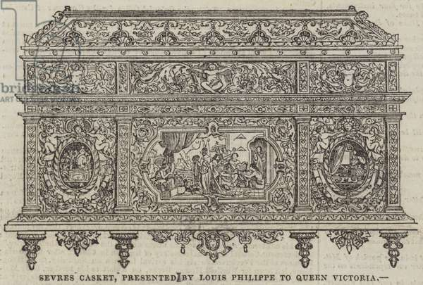 Sevres Casket, presented by Louis Philippe to Queen Victoria (engraving)