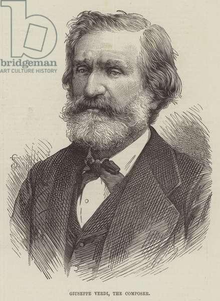 Giuseppe Verdi, the Composer (engraving)