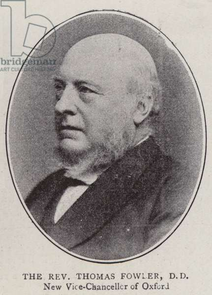 The Reverend Thomas Fowler, DD (b/w photo)