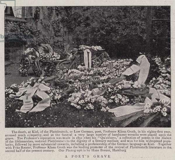 A Poet's Grave (b/w photo)