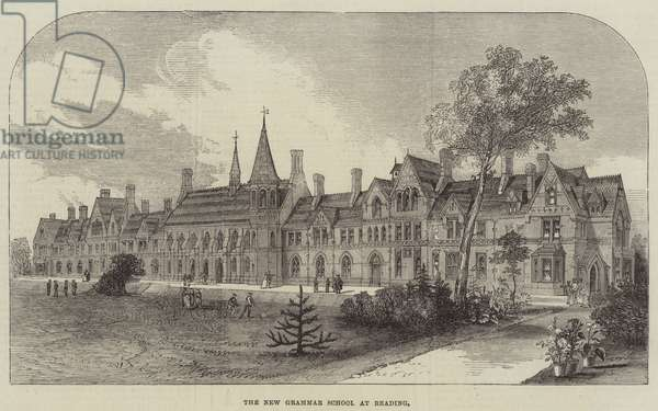 The New Grammar School at Reading (engraving)