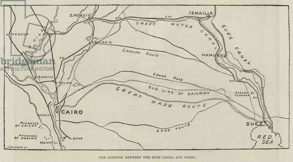 The Country between the Suez Canal and Cairo (engraving)
