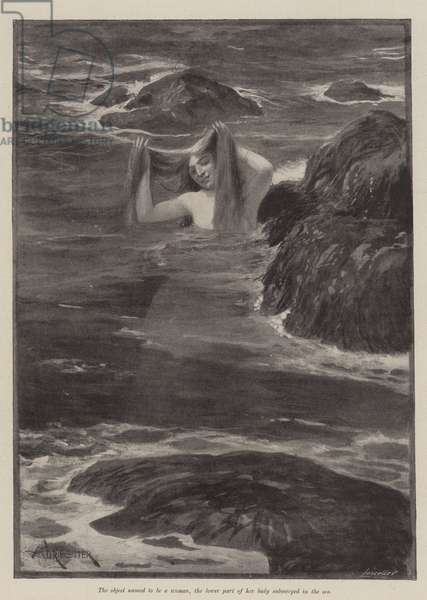 The Mermaid of Lighthouse Point, by Bret Harte (litho)