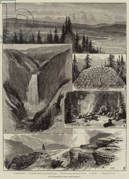 The Yellowstone Park, North America (engraving)