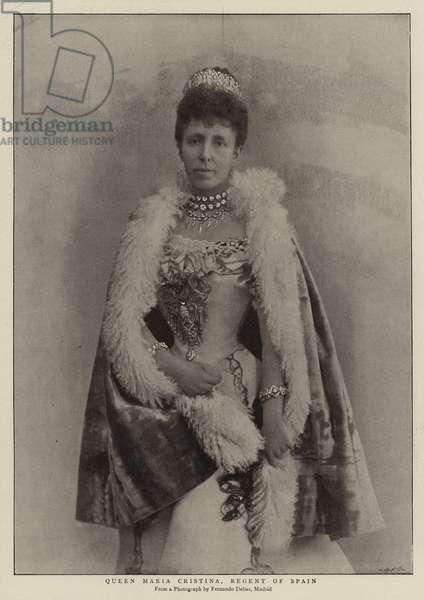 Queen Maria Cristina, Regent of Spain (b/w photo)