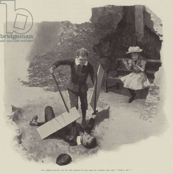 The Five Years' Tryst, by Walter Besant (litho)