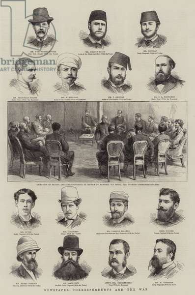 Newspaper Correspondents and the War (engraving)