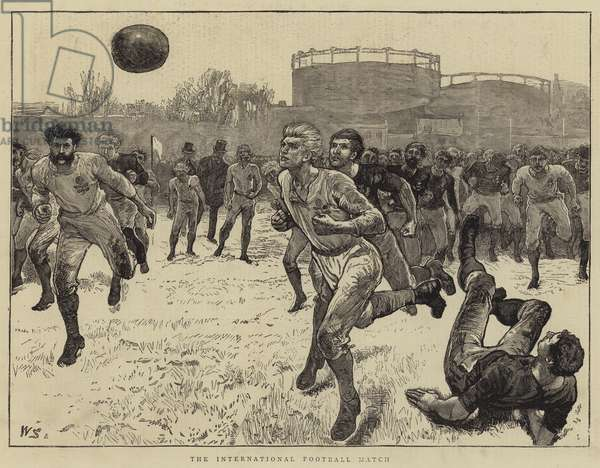 The International Football Match (engraving)