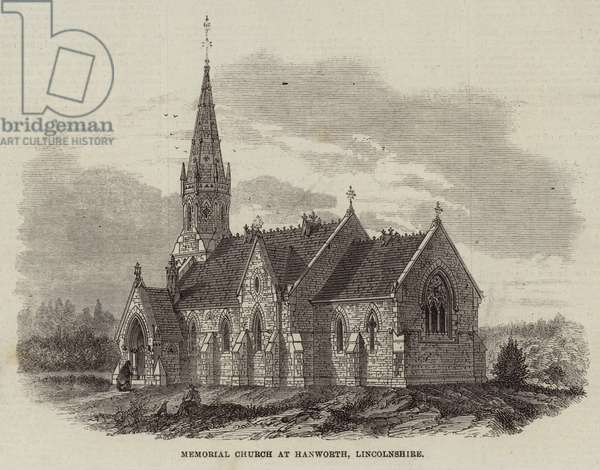 Memorial Church at Hanworth, Lincolnshire (engraving)