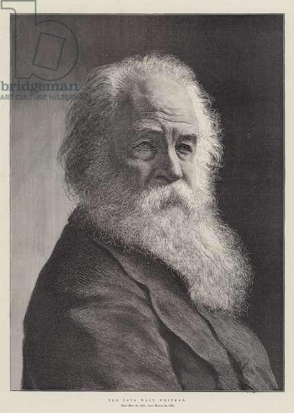 The late Walt Whitman (engraving)