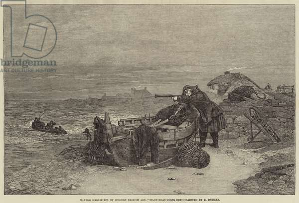 Winter Exhibition of Modern British Art, Pilot Boat going out (engraving)