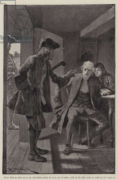 Illustration for A Colonel of The Empire, by Emily Lawless (litho)