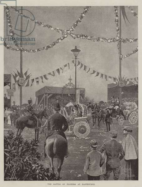 The Battle of Flowers at Eastbourne (litho)