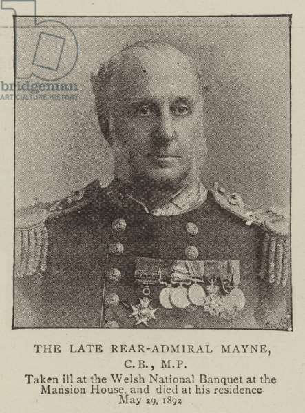 The Late Rear-Admiral Mayne, CB, MP (b/w photo)