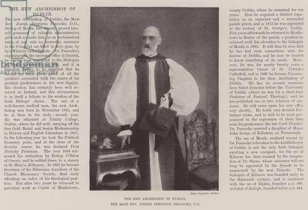 The New Archbishop of Dublin, the Most Reverend Joseph Ferguson Peacocke, DD (b/w photo)