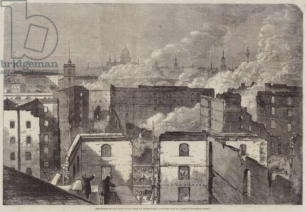 The Ruins of the late Great Fire at Southwark (engraving)