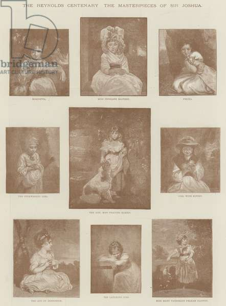 The Reynolds Centenary, the Masterpieces of Sir Joshua (litho)