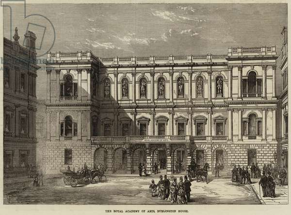 The Royal Academy of Arts, Burlington House (engraving)