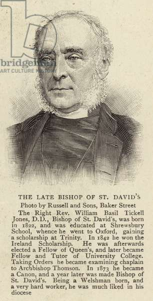The Late Bishop of St David's (engraving)
