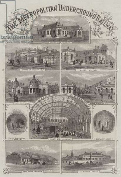 The Metropolitan Underground Railway (engraving)