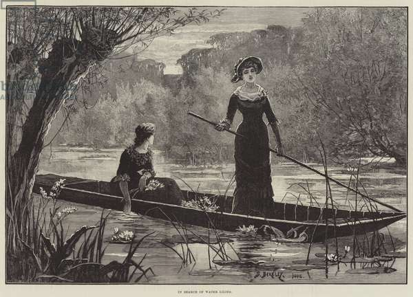 In Search of Water Lilies (engraving)