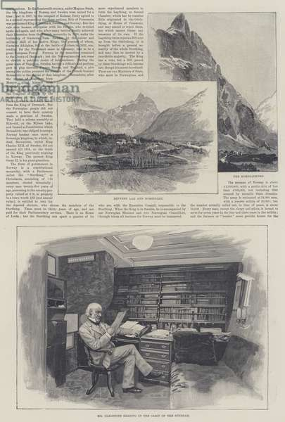 """The """"Sunbeam"""" in Norway, by Lady Brassey (engraving)"""