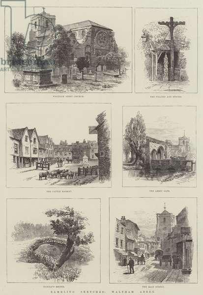 Rambling Sketches, Waltham Abbey (engraving)