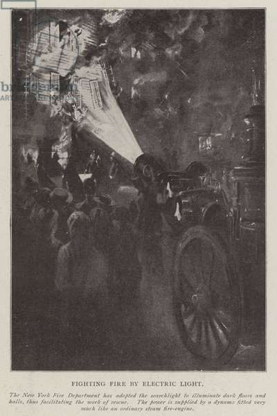 Fighting Fire by Electric Light (litho)