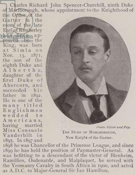 The Duke of Marlborough, New Knight of the Garter (b/w photo)