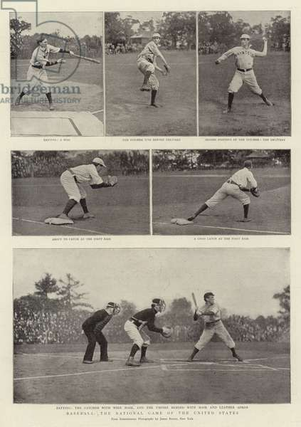 Baseball, the National Game of the United States (b/w photo)