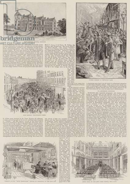 The Jews in London (litho)