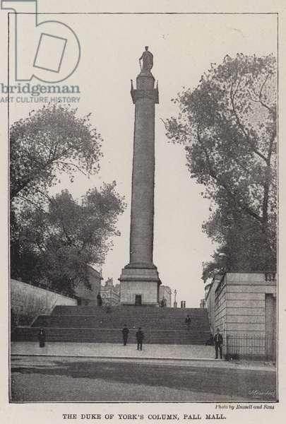 The Duke of York's Column, Pall Mall (b/w photo)