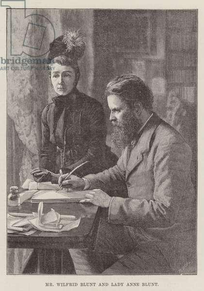 Mr Wilfrid Blunt and Lady Anne Blunt (engraving)