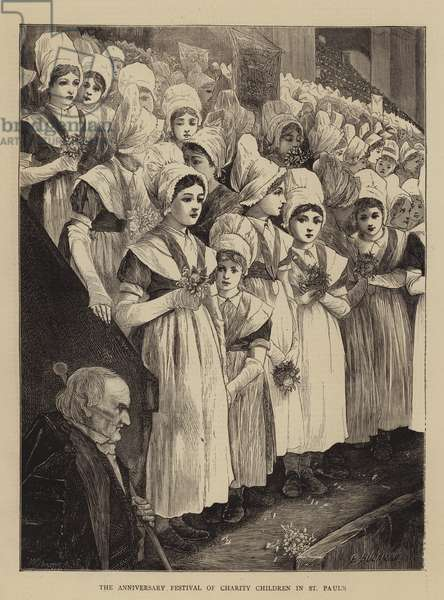 The Anniversary Festival of Charity Children in St Paul's (engraving)