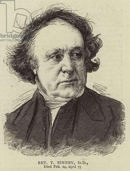 Reverend T Binney, DD (engraving)