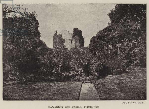 Hawarden Old Castle, Flintshire (b/w photo)