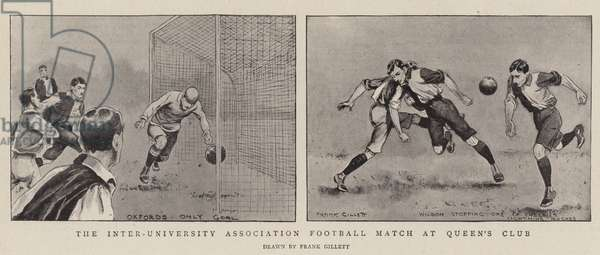 The Inter-University Association Football Match at Queen's Club, 1899 (engraving)