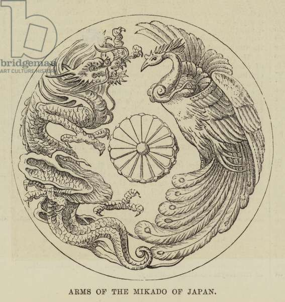Arms of the Mikado of Japan (engraving)