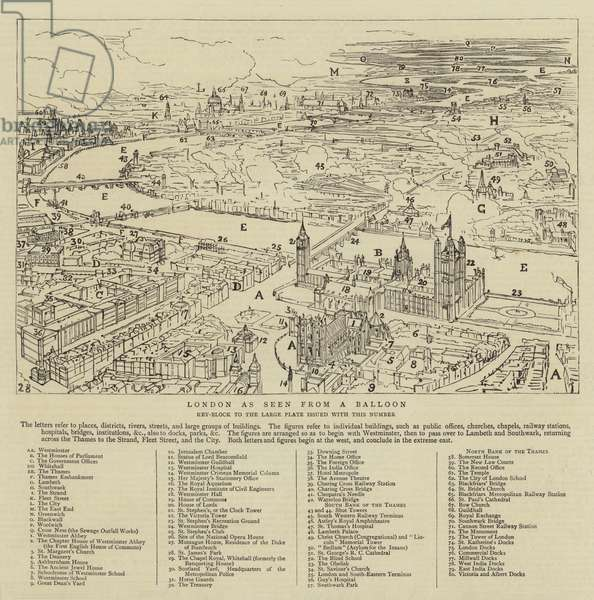 London as seen from a Balloon (engraving)