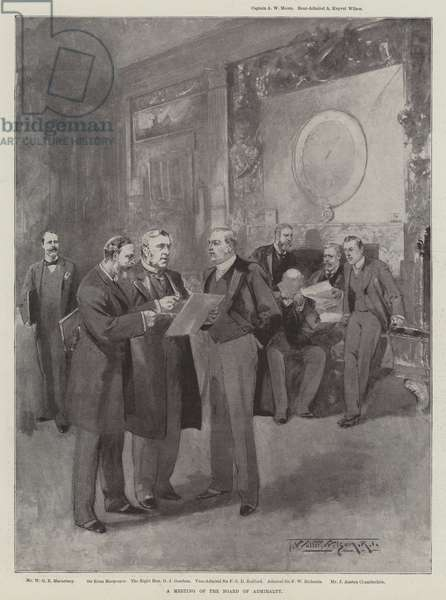 A Meeting of the Board of Admiralty (litho)