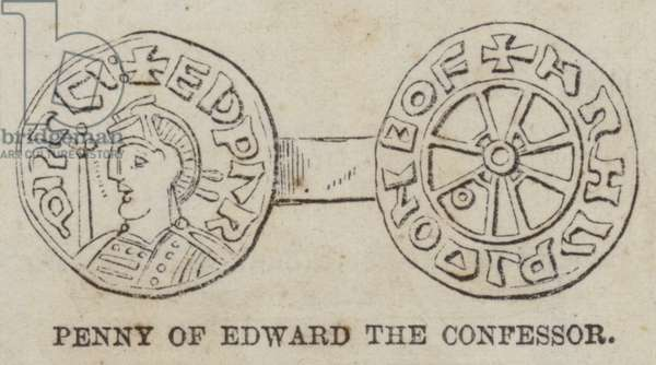 Penny of Edward the Confessor (engraving)