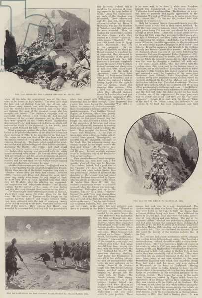 The Gordon Highlanders and their Doughty Deeds of the Past (litho)