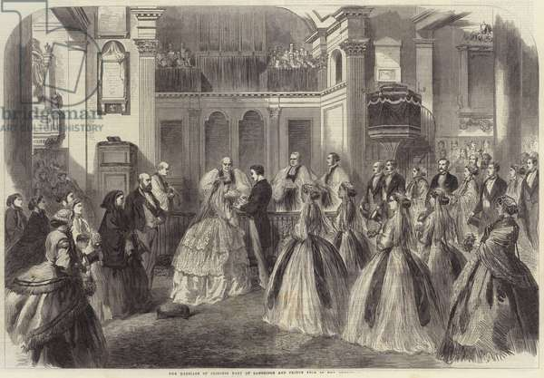 The Marriage of Princess Mary of Cambridge and Prince Teck in Kew Church (engraving)