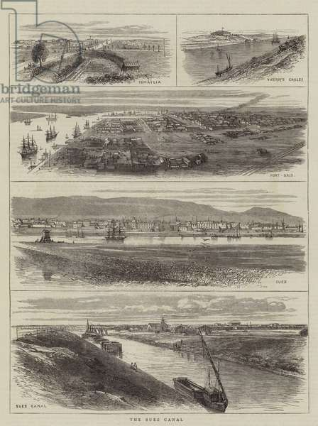The Suez Canal (engraving)