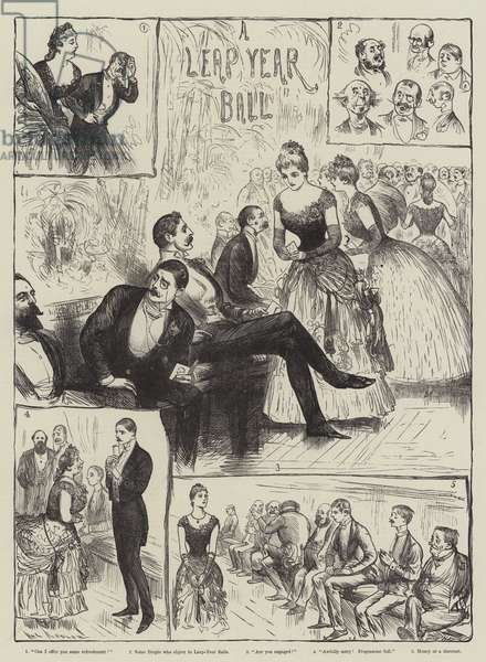 A Leap Year Ball (engraving)